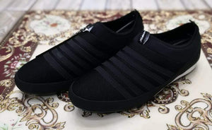 Authentic JUMP Black Stripes Black Casual Slip-ons Bahria Stores by AnzorStore in Casual Sneakers