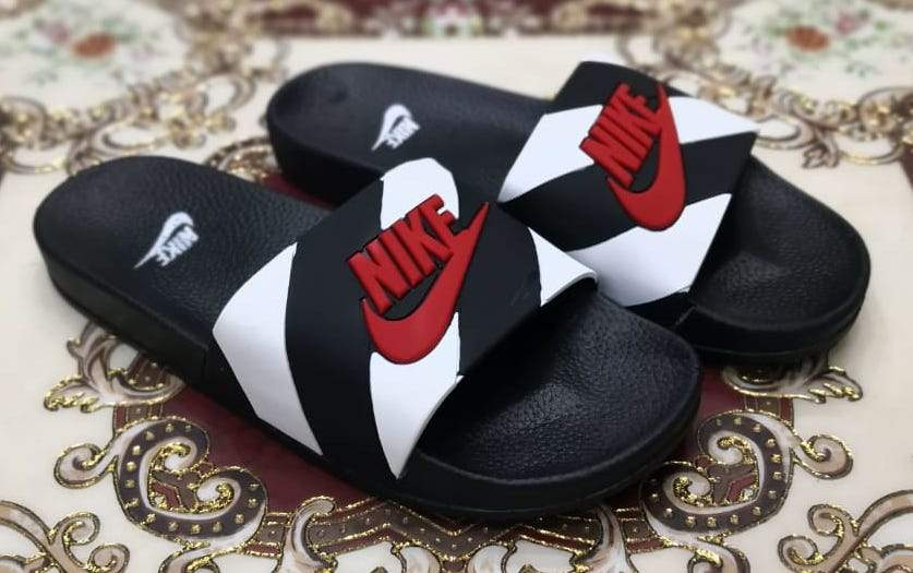 NIKE Multi Stripes Slides Bahria Stores by AnzorStore in Slides
