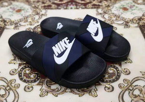 NIKE Blue and Black Multi Stripes Slides Bahria Stores by AnzorStore in Slides