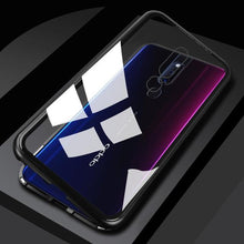 Load image into Gallery viewer, Magnetic Flip Case for OPPO F7 F9 F11 Realme 3 Pro Clear Glass Hard Back Cover Metal Frame Protection Case for OPPO A5 A7 A9 Bahria Stores by Bahria Stores in Cases & Screen Protectors