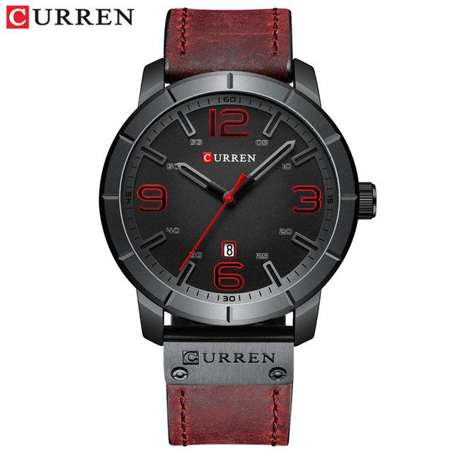 Men Watch 2019 CURREN Men's Quartz Wristwatches Male Clock Top Brand Luxury Reloj Hombres Leather Wrist Watches with Calendar Bahria Stores by Bahria Stores in [product_type]