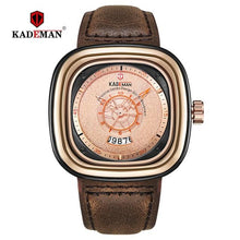 Load image into Gallery viewer, Men Watch Square Design Sport Leather Watch TOP Brand KADEMAN Fashion Quartz Wristwatches 2019 Business Casual Relogio Masculino Bahria Stores by Bahria Stores in [product_type]
