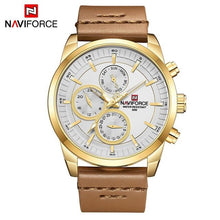 Load image into Gallery viewer, Mens Watches NAVIFORCE Top Brand Luxury Waterproof 24 hour Date Quartz Watch Man Fashion Leather Sport Wrist Watch Men Clock Bahria Stores by Bahria Stores in Watches