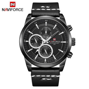 Mens Watches NAVIFORCE Top Brand Luxury Waterproof 24 hour Date Quartz Watch Man Fashion Leather Sport Wrist Watch Men Clock Bahria Stores by Bahria Stores in Watches