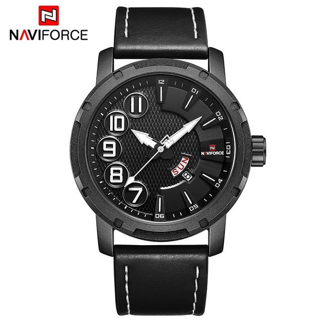 Mens Watches NAVIFORCE Top Luxury Brand Men Fashion Sports Watch Male Unique Quartz Date Clock Waterproof Army Military Watches Bahria Stores by Bahria Stores in Watches