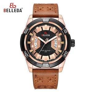 Mens Watches Sport Quartz Watch Men Top Luxury Brand Military Watch Waterproof Complete Calendar Leather Wristwatch New 2019