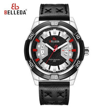 Load image into Gallery viewer, Mens Watches Sport Quartz Watch Men Top Luxury Brand Military Watch Waterproof Complete Calendar Leather Wristwatch New 2019