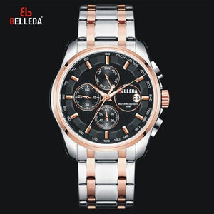 Mens Watches Top Brand Luxury Quartz Watch Fashion Retro Gold Steel Watch Men Waterproof Week Date Stop Watch New Arrival 2019