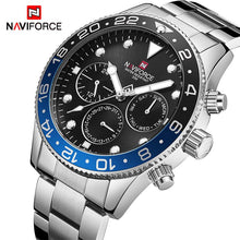 Load image into Gallery viewer, Mens Watches Top Luxury Brand NAVIFORCE Fashion Sports Waterproof 24 Hour Date Clock Men Full Steel Quartz Business Wristwatch Bahria Stores by Bahria Stores in [product_type]