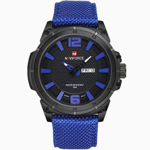 NAVIFORCE 2019 Men's Luxury Watch Military Watch Men Quartz wristWatch Sports Date Clock Brand Men Casual Nylon Watch 9066 Bahria Stores by Bahria Stores in [product_type]