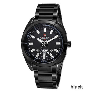 NAVIFORCE Brand Men Watches Business Quartz 30M Waterproof Watches Men's Stainless Steel Band Auto Date Wristwatches Relojes Bahria Stores by Bahria Stores in [product_type]