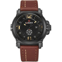 Load image into Gallery viewer, NAVIFORCE Brand Watches Men Military Sport Waterproof Leather Quartz Watch Man Fashion Wristwatch Male Clock relogio masculino Bahria Stores by Bahria Stores in Watches