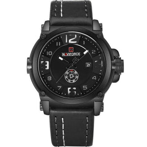 NAVIFORCE Brand Watches Men Military Sport Waterproof Leather Quartz Watch Man Fashion Wristwatch Male Clock relogio masculino Bahria Stores by Bahria Stores in Watches
