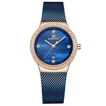 Load image into Gallery viewer, NAVIFORCE Fashion Brand Female Quartz Watch Stainless Steel Mesh Belts Elegant Ladies Watches Creative Luxury Dial Reloj Mujer Bahria Stores by Bahria Stores in Watches