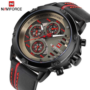 NAVIFORCE Luxury Brand Men's Sport Watches Men Leather Quartz Waterproof Date Clock Man Military Wrist Watch relogio masculino Bahria Stores by Bahria Stores in [product_type]