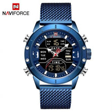 Load image into Gallery viewer, NAVIFORCE Men Luxury Dual Display Watches Mens Military Sport Watch Male Fashion Waterproof Quartz Wrist Watch Relogio Masculino Bahria Stores by Bahria Stores in [product_type]
