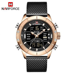 NAVIFORCE Men Luxury Dual Display Watches Mens Military Sport Watch Male Fashion Waterproof Quartz Wrist Watch Relogio Masculino Bahria Stores by Bahria Stores in [product_type]