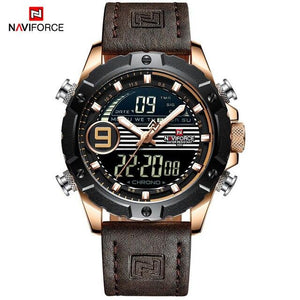 NAVIFORCE Men Multifunction Watch Luxury Brand Sports Watches Men's Quartz LED Digital Waterproof Wrist Watch Relogio Masculino Bahria Stores by Bahria Stores in [product_type]