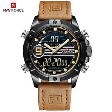 Load image into Gallery viewer, NAVIFORCE Men Multifunction Watch Luxury Brand Sports Watches Men's Quartz LED Digital Waterproof Wrist Watch Relogio Masculino Bahria Stores by Bahria Stores in [product_type]