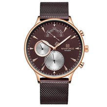 Load image into Gallery viewer, NAVIFORCE Men Watch Top Brand Fashion Casual Men Watches Stainless Steel Mesh Male Clock Waterproof Quartz Relogio Masculino Bahria Stores by Bahria Stores in [product_type]