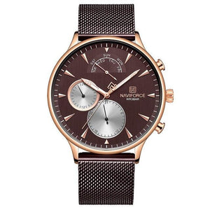 NAVIFORCE Men Watch Top Brand Fashion Casual Men Watches Stainless Steel Mesh Male Clock Waterproof Quartz Relogio Masculino Bahria Stores by Bahria Stores in [product_type]