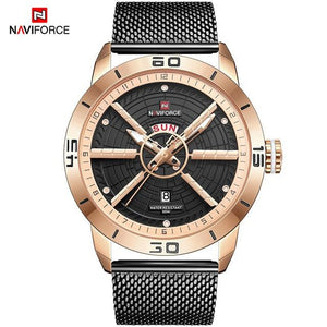 NAVIFORCE Men's Business Affairs Electroplate Watch Men Luxurious Quartz Wristwatches Date Display Male Clock Relogio Masculino Bahria Stores by Bahria Stores in [product_type]