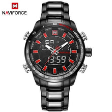 Load image into Gallery viewer, NAVIFORCE Mens Quartz Analog Watch Luxury Fashion LED Sport Wristwatch Waterproof Stainless Male Watches Clock Relogio Masculino Bahria Stores by Bahria Stores in [product_type]