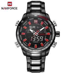 NAVIFORCE Mens Quartz Analog Watch Luxury Fashion LED Sport Wristwatch Waterproof Stainless Male Watches Clock Relogio Masculino Bahria Stores by Bahria Stores in [product_type]
