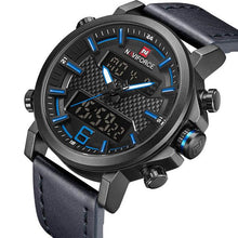 Load image into Gallery viewer, NAVIFORCE Mens Sports Watches Men Quartz LED Digital Clock Top Brand Luxury Male Fashion Leather Waterproof Military Wrist Watch Bahria Stores by Bahria Stores in [product_type]