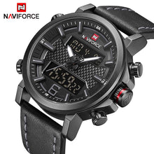 Load image into Gallery viewer, NAVIFORCE Men's Fashion Sport Watches Men Quartz Analog Date Clock Man Leather Military Waterproof Watch Relogio Masculino 2018  (8) Bahria Stores by Bahria Stores in Watches
