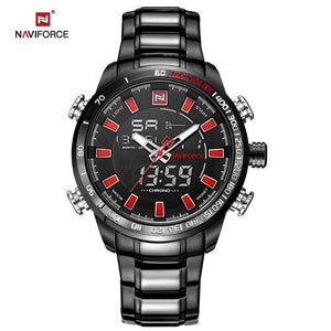 NAVIFORCE Mens Watch Quartz Analog  Luxury Fashion Sport Wristwatch Waterproof Stainless Male Watches Clock Relogio Masculino Bahria Stores by Bahria Stores in [product_type]