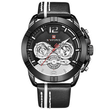 Load image into Gallery viewer, NAVIFORCE Mens Watch Top Brand Bussiness Quartz Men Watch Leather Waterproof Sport Wrist Watch Date Male Clock Relogio Masculino Bahria Stores by Bahria Stores in [product_type]