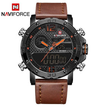 Load image into Gallery viewer, NAVIFORCE Mens Watches To Luxury Brand Men Leather Sports Watches Men's Quartz LED Digital Clock Waterproof Military Wrist Watch Bahria Stores by Bahria Stores in [product_type]