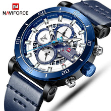 Load image into Gallery viewer, NAVIFORCE Mens Watches Top Brand Luxury Sport Multi-function Quartz-Watch Leather Strap Clock Men Waterproof Wristwatch relogio Bahria Stores by Bahria Stores in Watches