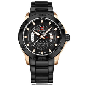 NAVIFORCE Mens Watches Top Luxury Brand Men Full Steel Hour Quartz Watch Analog Waterproof Sports Army Military WristWatch Clock Bahria Stores by Bahria Stores in [product_type]
