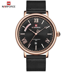NAVIFORCE New Fashion Mens Watches Luxury Brand Full Steel Waterproof Think Clock Male Quartz Watch Men Business Wristwatch Bahria Stores by Bahria Stores in [product_type]