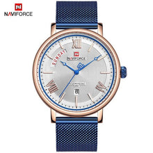 Load image into Gallery viewer, NAVIFORCE New Fashion Mens Watches Luxury Brand Full Steel Waterproof Think Clock Male Quartz Watch Men Business Wristwatch Bahria Stores by Bahria Stores in [product_type]