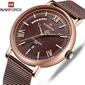NAVIFORCE New Men Watch Fashion Sport Watches Men's Casual Waterproof Quartz Wristwatch Stainless Steel Mesh Relogio Masculino Bahria Stores by Bahria Stores in [product_type]