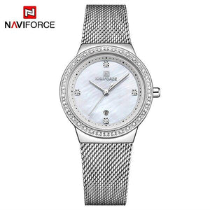 NAVIFORCE New Women Luxury Brand Watch Simple Quartz Lady Waterproof Wristwatch Female Fashion Casual Watches Clock reloj mujer Bahria Stores by Bahria Stores in [product_type]