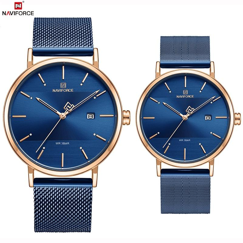 NAVIFORCE Top Brand Luxury Men Quartz Watches Women Steel Waterproof Casual Date Couple Clock Male Wrist Watch Relogio Masculino Bahria Stores by Bahria Stores in [product_type]