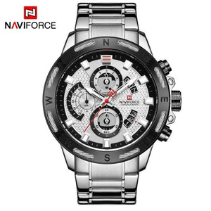 NAVIFORCE Top Brand Mens Watches Luxury Bussiness Watch Digital Quartz Men Military Wristwatch Clock Male Relogio Masculino 9165 Bahria Stores by Bahria Stores in [product_type]