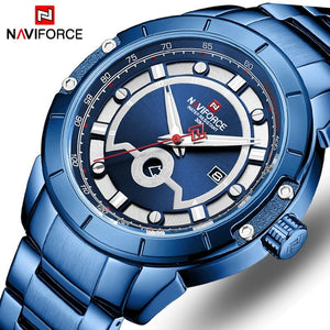 NAVIFORCE Top Fashion Brand Men Sports Watches Men Quartz Men Stainless Steel Army Military Wristwatches Relogio Masculino Bahria Stores by Bahria Stores in [product_type]