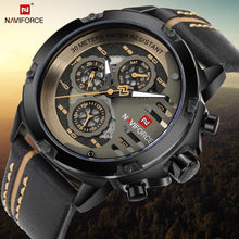 Load image into Gallery viewer, NAVIFORCE Men's Fashion Sport Watches Men Quartz Analog Date Clock Man Leather Military Waterproof Watch Relogio Masculino 2018  (14) Bahria Stores by Bahria Stores in Watches