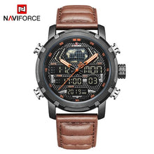 Load image into Gallery viewer, NAVIFORCE Men's Fashion Sport Watches Men Quartz Analog Date Clock Man Leather Military Waterproof Watch Relogio Masculino 2018  (19) Bahria Stores by Bahria Stores in Watches