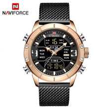 Load image into Gallery viewer, NAVIFORCE Men's Fashion Sport Watches Men Quartz Analog Date Clock Man Leather Military Waterproof Watch Relogio Masculino 2018  (2) Bahria Stores by Bahria Stores in Watches