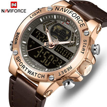 Load image into Gallery viewer, NAVIFORCE Men's Fashion Sport Watches Men Quartz Analog Date Clock Man Leather Military Waterproof Watch Relogio Masculino 2018  (6) Bahria Stores by Bahria Stores in Watches