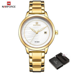 NAVIFORCE  Women Casual Watches Brand Luxury Watch Quartz Wrist Watch Ladies Girls Fashion Clock Relogios Feminino Dropshipping Bahria Stores by Bahria Stores in [product_type]