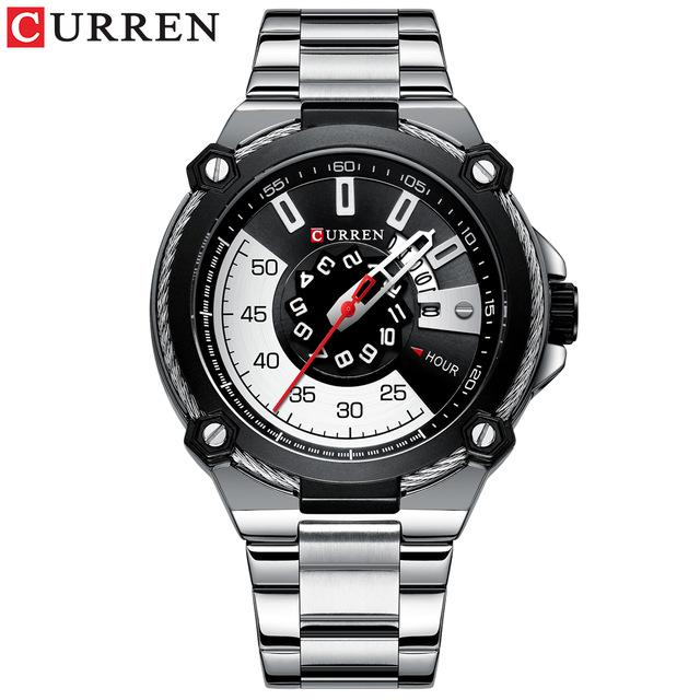 New Creative Men's Watch Fashion Business Quartz Wristwatches Top Brand CURREN Watch with Stainless Mens Clock Relogio Masculino Bahria Stores by Bahria Stores in [product_type]