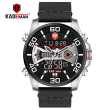 Load image into Gallery viewer, New Men Watch TOP Quality Sport Watch 3ATM LED Display Tech Wristwatch KADEMAN Fashion Brand Design Casual Leather Clcok Relogio Bahria Stores by Bahria Stores in [product_type]