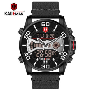 New Men Watch TOP Quality Sport Watch 3ATM LED Display Tech Wristwatch KADEMAN Fashion Brand Design Casual Leather Clcok Relogio Bahria Stores by Bahria Stores in [product_type]